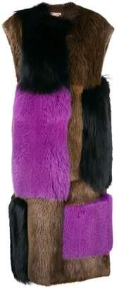 Marni oversized fur panel coat