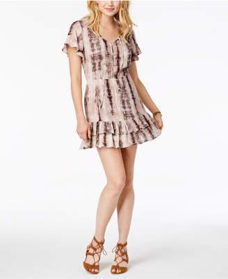 American Rag Juniors' Floral-Print Ruffled Peasant Dress, Created for Macy's