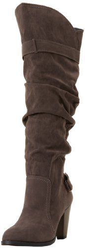 Fahrenheit Women's Lena-02 Knee-High Boot,Grey,8 M US