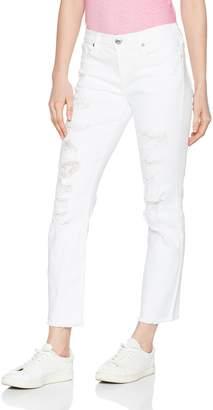 True Religion Women's Cora Mid Rise Straight Crop Jean