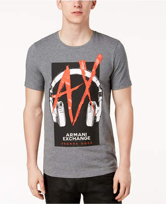 Armani Exchange Men's Graphic-Print Stretch T-Shirt