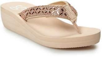 057b58bcd So SO Bling Wedge Women s Thong Sandals