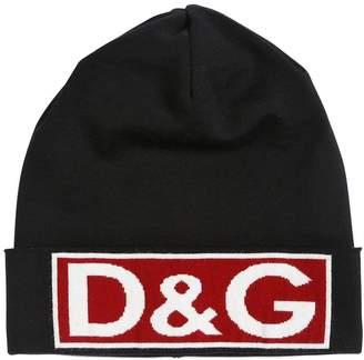 Dolce & Gabbana Logo Intarsia Wool Beanie Hat