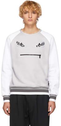 Fendi (フェンディ) - Fendi グレー & ホワイト バッグ バグ スウェットシャツ