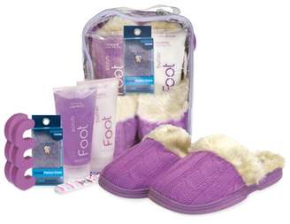Spa Sister Snuggle Up Foot Spa Cable Knit Slippers, Vanilla Berry Lavender