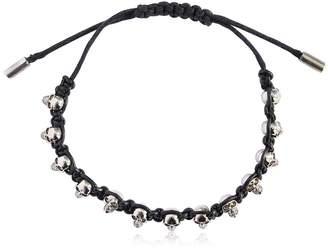 Alexander McQueen Skulls Leather Cord Bracelet