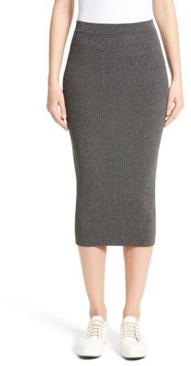 Women's Armani Jeans Rib Knit Midi Skirt