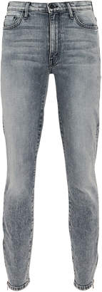 Mother The Swooner Ankle Zip High-Rise Jeans