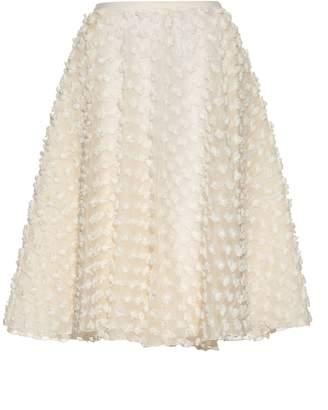 Rochas Textured-fabric A-line skirt