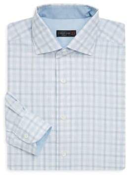 Corneliani Regular-Fit Gingham Cotton Dress Shirt