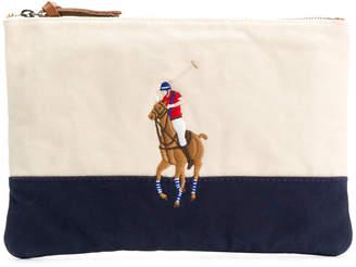 Polo Ralph Lauren (ポロ ラルフ ローレン) - Polo Ralph Lauren エンブロイダリー クラッチバッグ