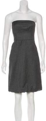Club Monaco Strapless Wool Dress