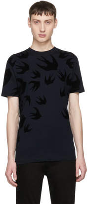 McQ Navy Swallow Signature T-Shirt