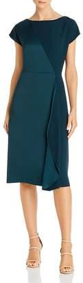 Donna Karan Satin-Contrast Sheath Dress