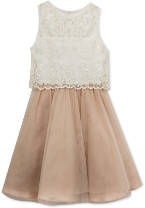 Rare Editions Lace-Bodice Popover Party Dress, Big Girls (7-16) $84 thestylecure.com