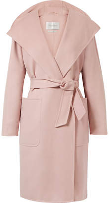 Max Mara Hooded Wool And Cashmere-blend Coat - Pastel pink
