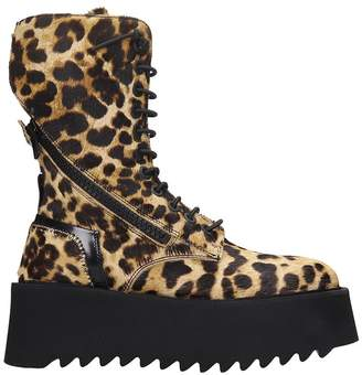 Bruno Bordese Ripple Boot Combat Boots In Animalier Pony Skin