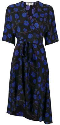 Diane von Furstenberg Dragon Berry wrap dress