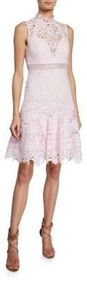 Bardot Elise Mock-Neck Sleeveless Lace Dress