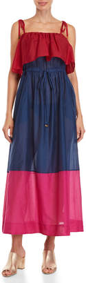 Diane von Furstenberg Color Block Cover-Up Maxi Dress