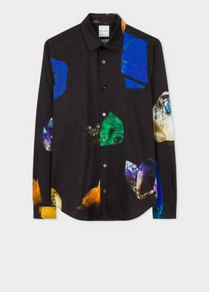 Paul Smith Men's Super Slim-Fit Black 'Precious Stones' Print Shirt