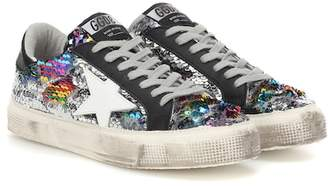 Golden Goose May Classic sequinned sneakers