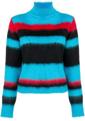 Dondup striped turtleneck sweater