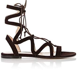 Gianvito Rossi WOMEN'S LACE-UP GLADIATOR SANDALS - LT. BROWN SIZE 6