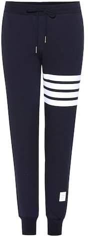 Trackpants aus Baumwolle mit Streifen