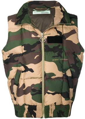 Off-White camouflage padded gilet