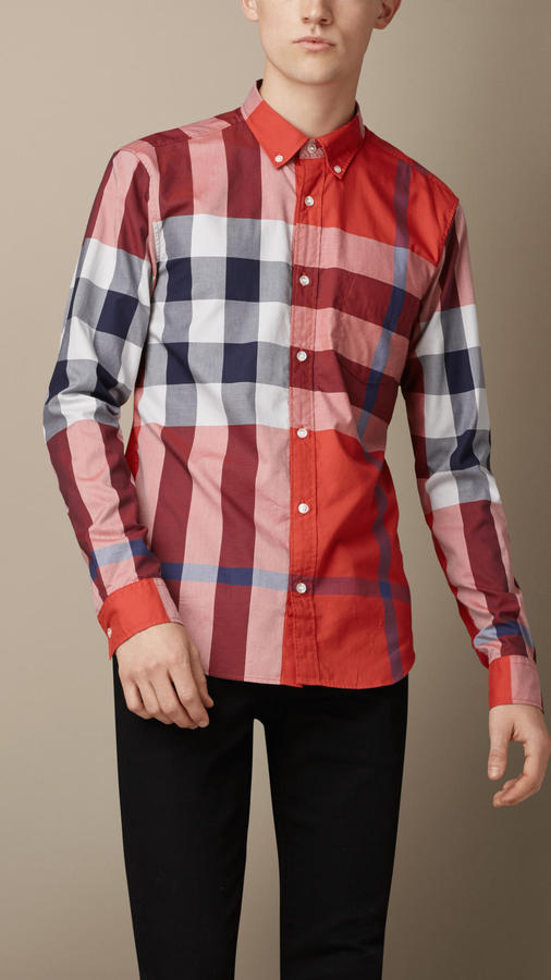 Burberry Exploded Check Cotton Shirt