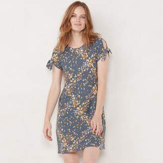 Lauren Conrad NEW! Women's Knot-Sleeve Swing Dress