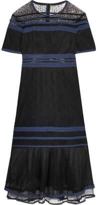 Jonathan Simkhai Tulle-trimmed Lace Dress - Black