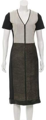 Reed Krakoff Perforated Leather Midi Dress