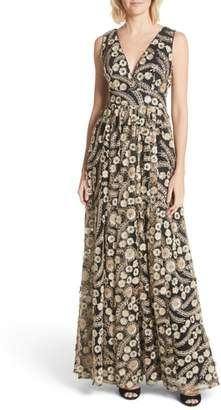 Ted Baker Embellished A-Line Maxi Dress