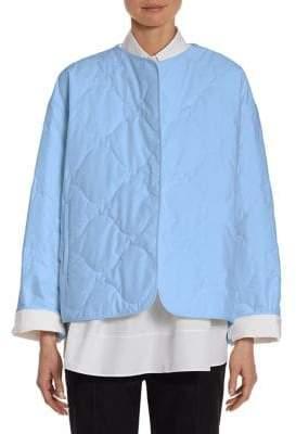 Jil Sander Cotton Poplin Quilted Coat