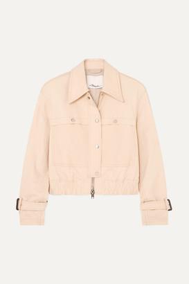 3.1 Phillip Lim Coated Stretch Cotton-blend Canvas Jacket - Beige