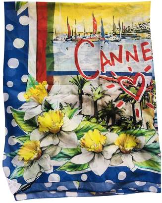 Dolce & Gabbana Yellow Cotton Scarves