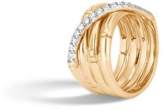 John Hardy Band Ring With Diamonds