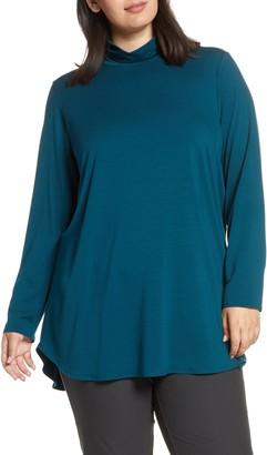 Eileen Fisher Scrunch Neck Stretch Tencel® Lyocell Tunic