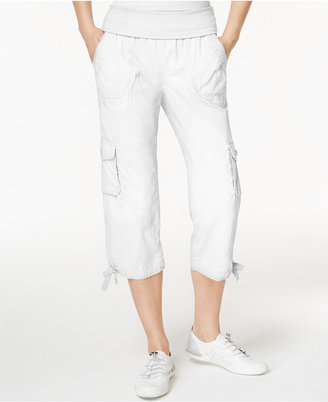 Calvin Klein Performance Foldover Cropped Cargo Pants $59.50 thestylecure.com