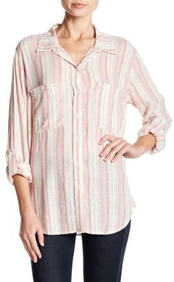 Sanctuary Tomboy Striped Button Down Shirt
