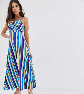Brave Soul Tall kate maxi dress in stripe