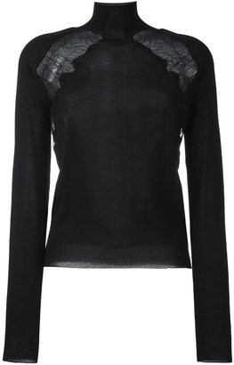 La Perla 'Leisuring' lace detail jumper $990.16 thestylecure.com