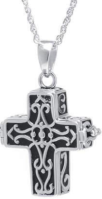 FINE JEWELRY Sterling Silver Vintage Cross Prayer Pendant Necklace