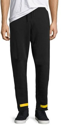 Off-White Arrow-Print French Terry Sweatpants, Black $480 thestylecure.com