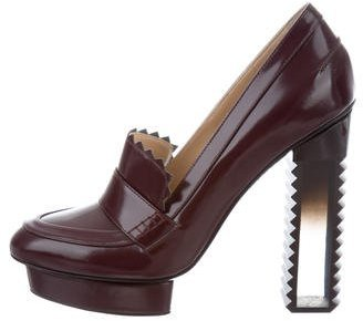 Aperlaï Aperlai Leather Platform Pumps w/ Tags