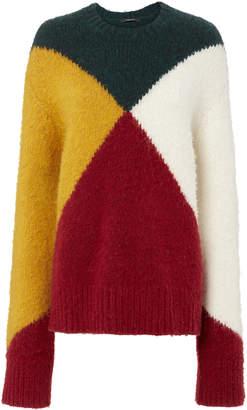 Derek Lam Colorblock Oversized Sweater