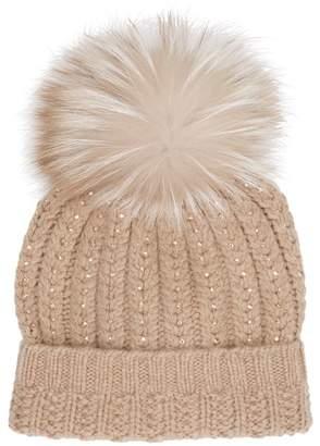 William Sharp Cashmere Crystal Pom Pom Hat c89133515ded