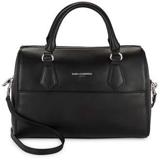 Karl Lagerfeld Women's Hermine Split Leather Satchel
